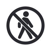 Vector illustration of single  forbidden access icon - stock illustration