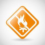 campfire signal design, vector illustration eps10 graphic - stock illustration