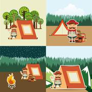 camping adventure design, vector illustration eps10 graphic - stock illustration