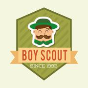 Boy scout design, vector illustration eps10 graphic Piirros