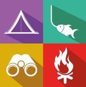 Stock Illustration of camping adventure design, vector illustration eps10 graphic