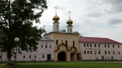 Tikhvin Assumption Monastery, a Russian Orthodox, (Tihvin, Russia) Stock Footage