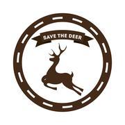 Stock Illustration of deer signal design, vector illustration eps10 graphic