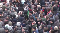 Closeup of the opposition March in Moscow top view - stock footage