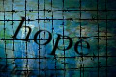 Hope and Barbwire concept Stock Illustration