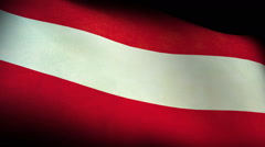 National flag of Austria, low angle Stock Footage