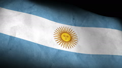 National flag of Argentina, low angle, grunge - stock footage