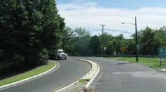 Traffic on the road in Philadelphia at day. Time lapse. Stock Footage