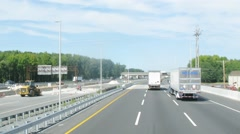 Traffic on the road in Philadelphia at sunny day. Time lapse. Stock Footage