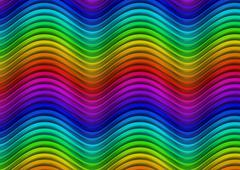 Stock Illustration of Spectrum waves