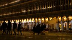 Costumed people at night Stock Footage
