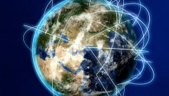 Global Business Concept. Growing Global Network, Global Communication. Stock Footage