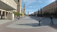 San pilar square time lapse Stock Footage