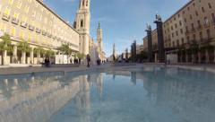 Time lapse plaza san pilar Stock Footage