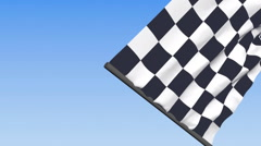 Checkered Racing Flag - 3d animation, seamless loop Stock Footage