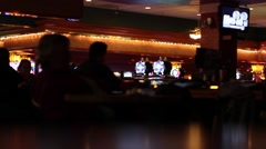 People in a Casino Bar Stock Footage