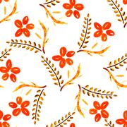 Flower seamless pattern, element for design Stock Illustration