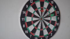 Throwing Darts at The Target Stock Footage