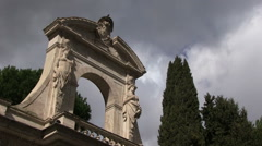 Rome - architecture - arch Stock Footage