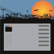 Background, bats, vector Stock Illustration