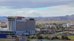 Pan Across a Casino Strip Stock Footage