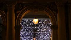 Classy walkway at night - stock footage