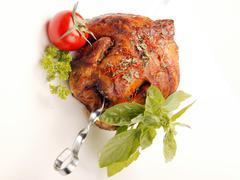 Chicken on spit Stock Photos