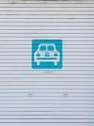 White garage door Stock Photos