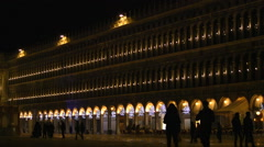 Venice Italy at night during the carnival Stock Footage