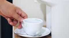 Human hand makes hot chocolate. Stock Footage
