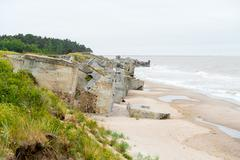 Demolished military fortifications in Liepaja, Stock Photos