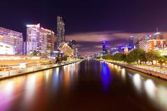 View of Yarra river in Melbourne, Australia Stock Photos