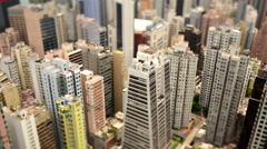 Tilt Shift / Time Lapse of Hong Kong Skyline and Victoria Harbour - Hong Kong Stock Footage