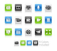 Multimedia Buttons // Clean Series Stock Illustration