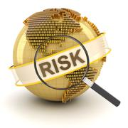 Analyzing global financial risk, 3d render - stock illustration