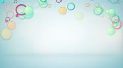 Colorful circles loopable background Stock Footage