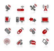 Wireless and Comunications Icons // Redico Series Stock Illustration
