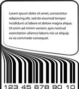 Bar code label with copy-space Stock Illustration