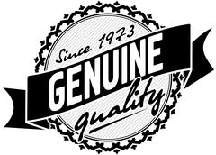 Genuine emblem Stock Illustration