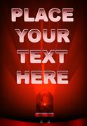 Background for text with red led Stock Illustration