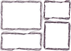 Set of 4 grunge frames Stock Illustration