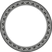 Unusual round frame - stock illustration