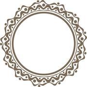 Unusual round frame - stock illustration