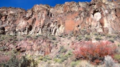 Dramatic Red Rock Canyon Walls Stock Footage