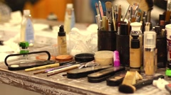 Make-up tools Stock Footage