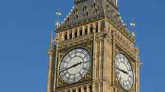 The beautiful Big Ben in London under the nice weather Stock Footage