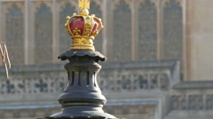 A red crown in one of the parts of the Big Ben Stock Footage