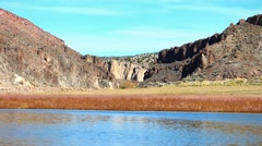 Dramatic Echo Canyon High Desert Lake Stock Footage