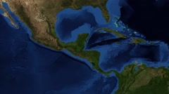 Nicaragua Canal map animation Stock Footage