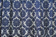 Texture of vintage fabric curtain Stock Photos